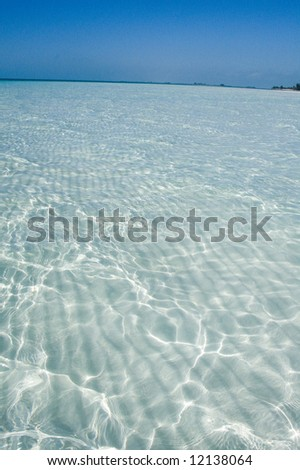 Sand shallow on Caribbean sea