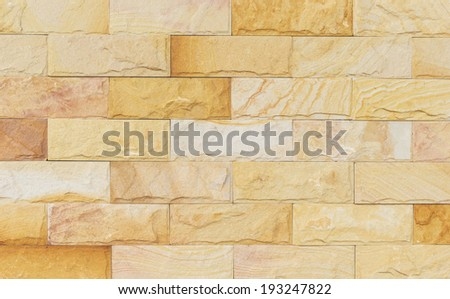 sand stone wall texture and ackground of decorate - stock photo