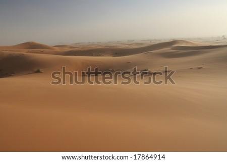 Sand storm - stock photo