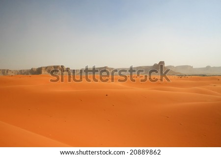 "Sand storm in ""Red"" desert (Saudi Arabia) - stock photo"