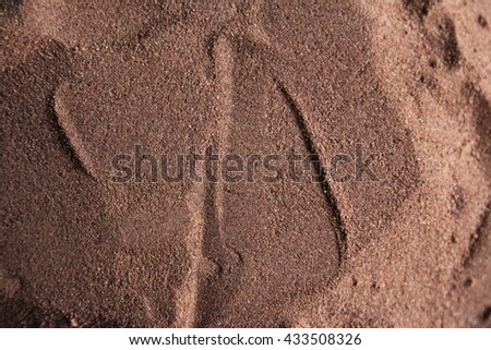 Sand surface for background