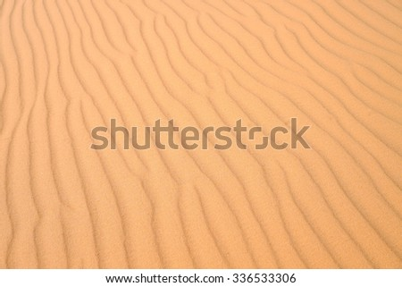 Sand texture at red sand dune, one of the best places in Muine, Vietnam.