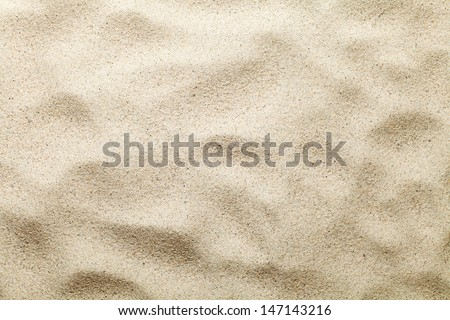 Sand texture. Beach background. Top view. Copy space - stock photo