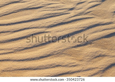Sand texture from the Muine dune, Vietnam - stock photo