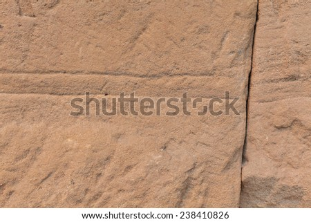 Sand Texture Wall with Crack - stock photo