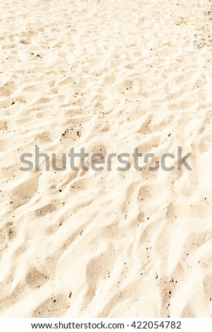 Sand Texture / White Sand Background close up / Beach Wallpaper - stock photo