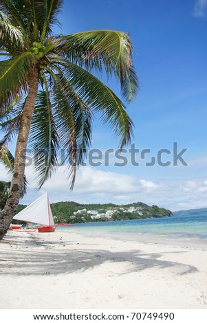 sand tropical beach - stock photo