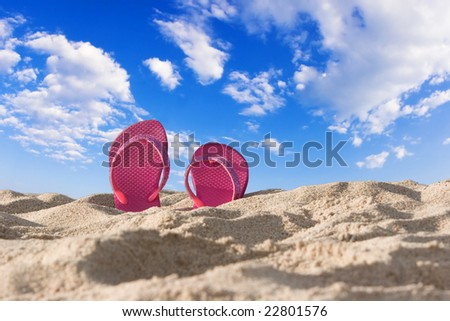 Sandals By The Sea - stock photo