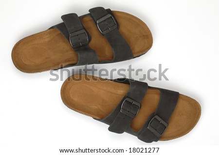 Sandals, isolated - stock photo