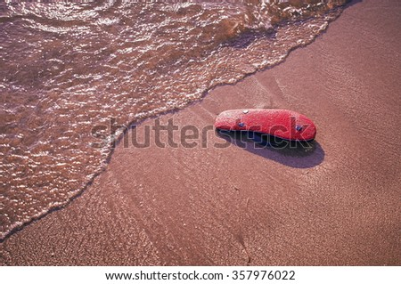 Sandals on the beach - stock photo