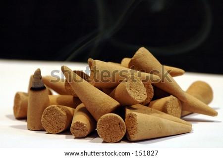 Sandalwood incense cones 2 - stock photo