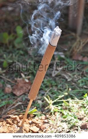 Sandalwood incense stick - stock photo