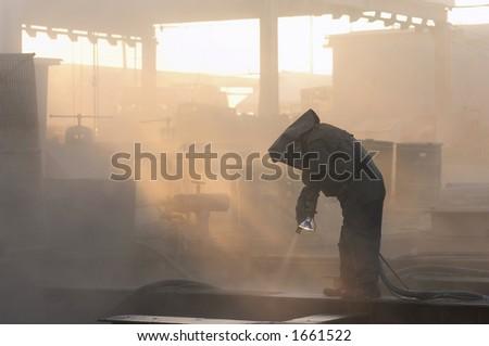 sandblaster - stock photo