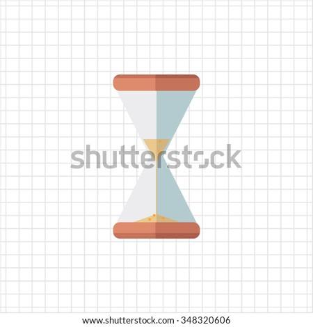 Sandglass icon - stock photo