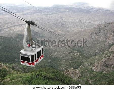 Sandia Tram - stock photo