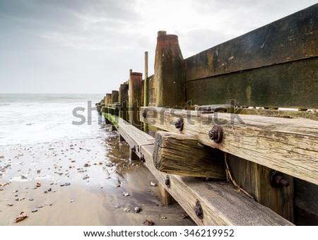 Sandown isle of wight uk. - stock photo