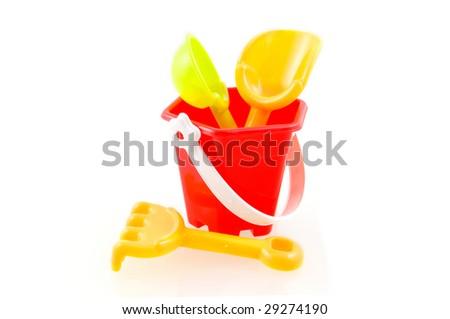 Sandpit toys - stock photo