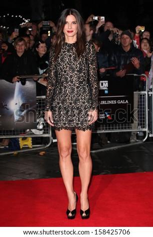 Sandra Bullock arriving for the Gravity Premiere, at the BFI London Film Festival 2013, Odeon Leicester Square, London. 10/10/2013 - stock photo