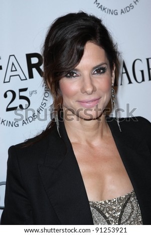 Sandra Bullock at the amfAR Inspiration Gala, Chateau Marmont, West Hollywood, CA 10-27-11