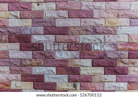 Sandstone brick wall texture background pattern and color