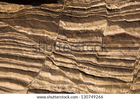 Sandstone Detail at the Wave - stock photo