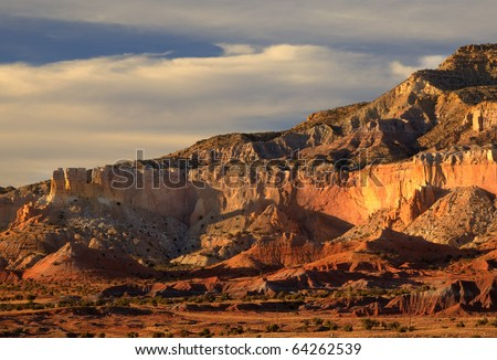 Sandstone Formation at Ghost Ranch, Abiquiu, New Mexico - stock photo