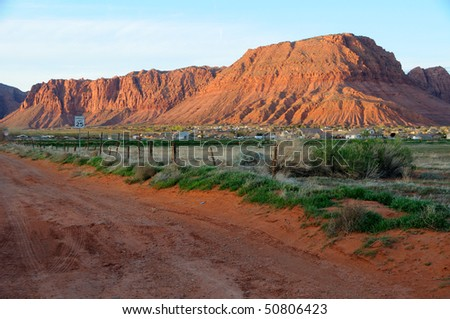 Sandstone Hills - Saint George, Utah - stock photo