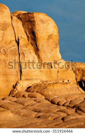 Sandstone Rock against the blue sky in Provence, France - stock photo