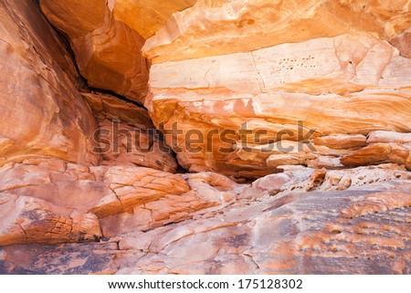 Sandstone Rock Canyon Walls - stock photo