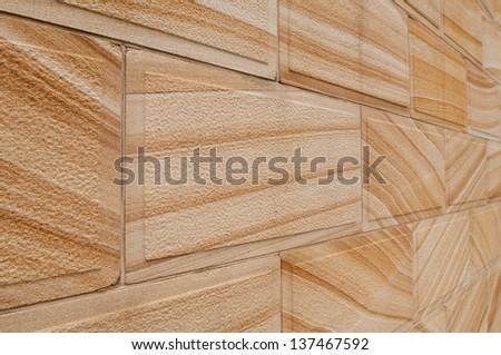 Sandstone wall - stock photo