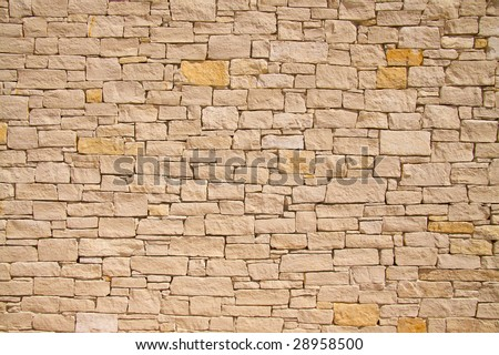 sandstone wall background - stock photo