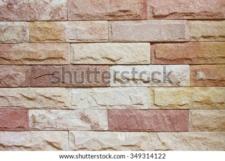 sandstone wall texture and background  - stock photo