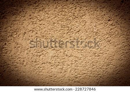 Sandstone wall. Vignette frame. - stock photo