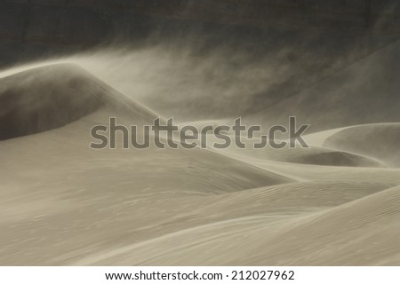 Sandstorm in Desert - stock photo