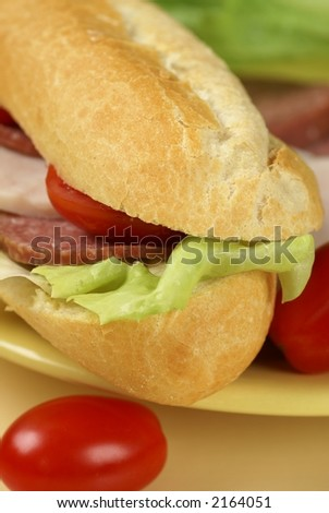 Sandwich and tomatoes on a plate