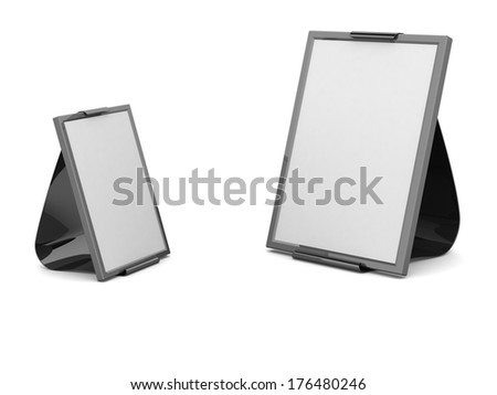 Sandwich board of 2 pieces isolated on white - 3d illustration  - stock photo