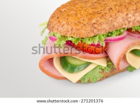 Sandwich, Bread, Healthy Eating. - stock photo