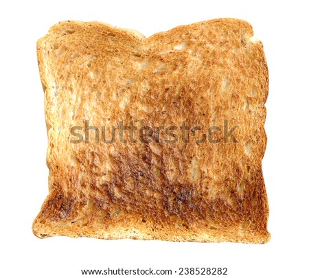 sandwich bread toasted normal isolated on white  - stock photo