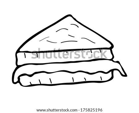 sandwich doodle doodle - stock photo