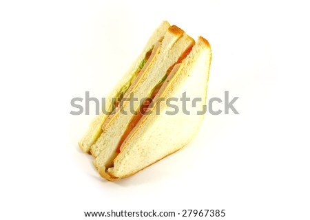 Sandwich Ham and Cheese Classical White Bread