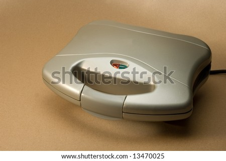 sandwich maker closed from above - stock photo