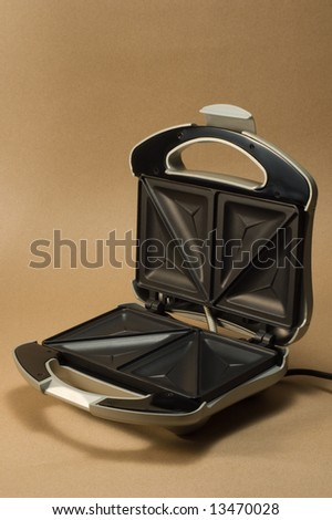 sandwich maker opened from above - stock photo