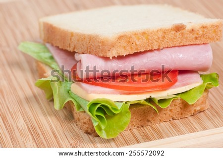 Sandwich on the cutting board