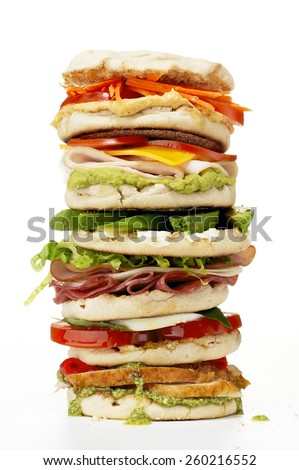 Sandwich Stack - stock photo