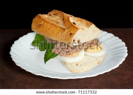 Sandwich with a tuna - stock photo