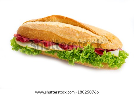sandwich with bresaola and cheese