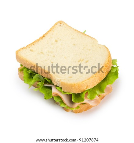 Sandwich with turkey