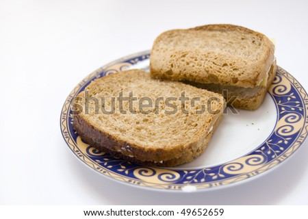 Sandwiches conceptual image. Sandwiches lying on plate.