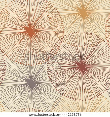 Sandy and orange radial elements. Seamless background for patterns, cards, textile, wallpapers, web pages - stock photo