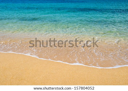 Sandy beach - stock photo